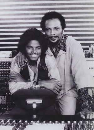 Michael And Quincy Jones In The Recording Studio