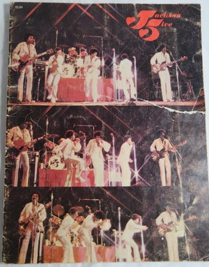A Vintage Jackson 5 konsert Tour Program