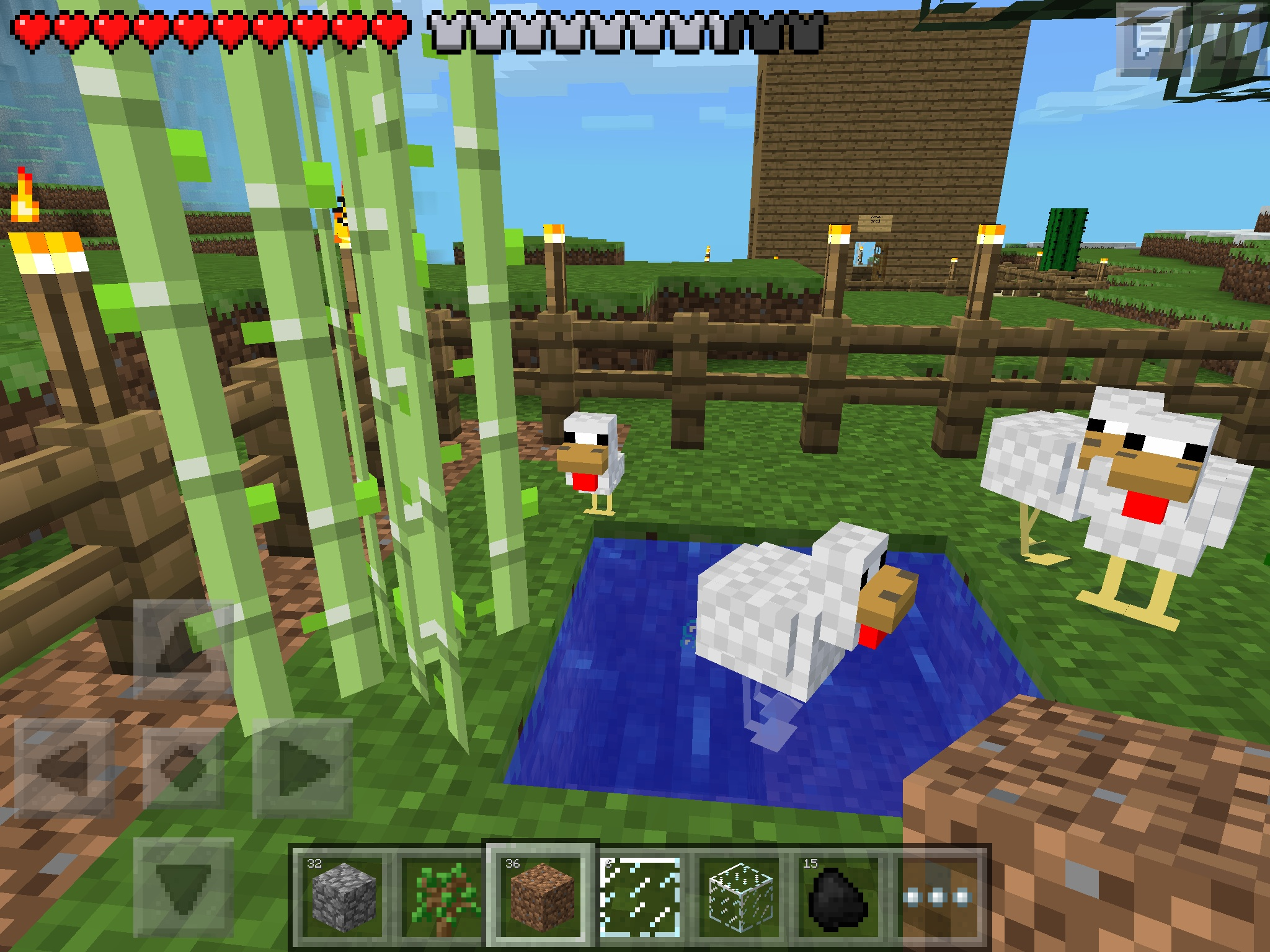Minecraft pocket edition images the chicken pool at the chicken minecraft pocket edition images the chicken pool at the chicken farm hd wallpaper and background photos voltagebd Images