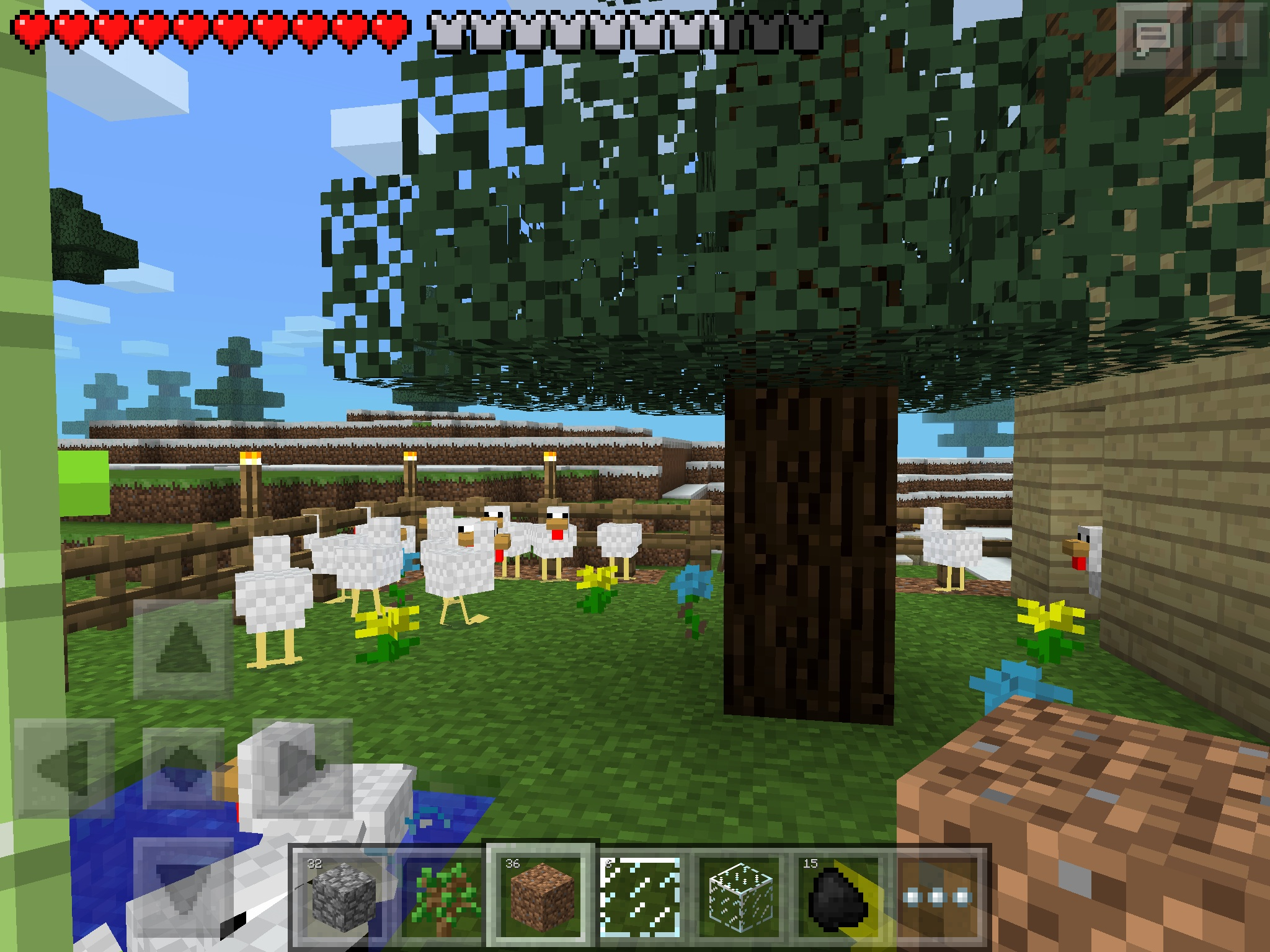 Minecraft pocket edition images over all look of my chicken farm minecraft pocket edition images over all look of my chicken farm hd wallpaper and background photos voltagebd Images