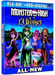 monster high 13 whishes DVD