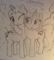 Me and TDItwin as ponies - my-little-pony-fim-fan-characters photo