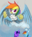 Rainbow as a Griffin - my-little-pony-friendship-is-magic photo