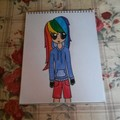Rainbow Dash as a Human - my-little-pony-friendship-is-magic fan art