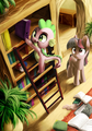Spike what are you doing? - my-little-pony-friendship-is-magic photo