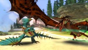 Deadly Nadder vs Monstrous Nightmare