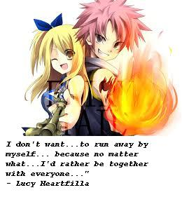 Natsu Lucy quote