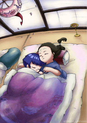 Neji and Hinata as kids