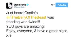 Stana's twitter(March,2014)