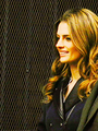 Stana-BTS(February,2014) - nathan-fillion-and-stana-katic photo