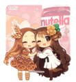 bread and nutella kawaii - nutella fan art