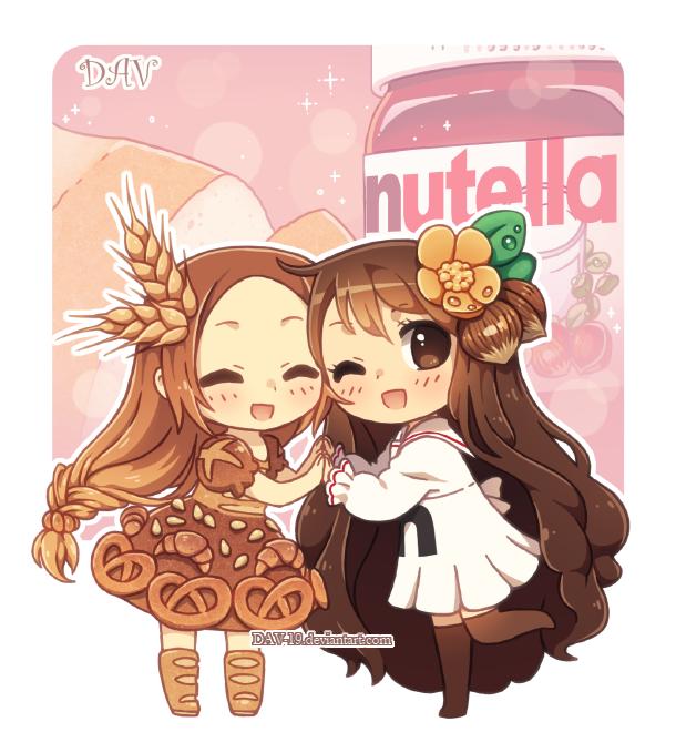 빵 and nutella kawaii