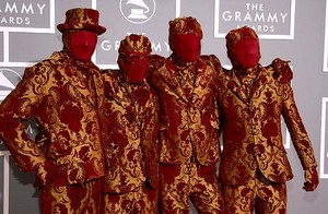 That time OK Go went to the Grammys dressed as achtergrond