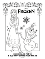 Frozen Olaf and Anna coloring sheet
