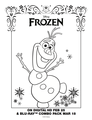 Frozen Olaf coloring sheet