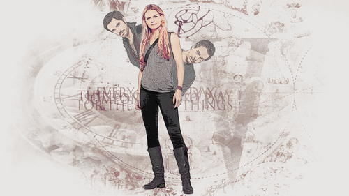Once Upon A Time wallpaper entitled Emma, Neil and Hook