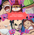 *Who's Gonna Win* - one-piece photo