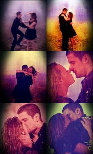 Naley rain kiss 9x13