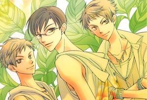 Kyoya, Hikaru and Kaoru