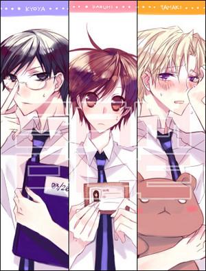 Kyoya, Haruhi, and Tamaki
