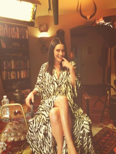Paget Brewster wallpaper probably containing a brasserie, a drawing room, and a bistro titled Paget Brewster on Drunk History
