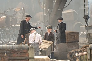 Murphy on the set of Peaky Blinders, season 2