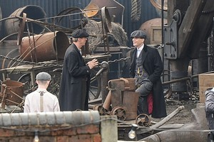 Murphy on the set of Peaky Blinders, season 2