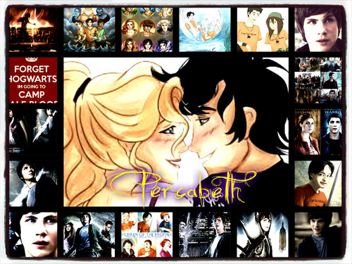Percy Jackson & The Olympians Bücher Hintergrund probably with Anime entitled Percabeth