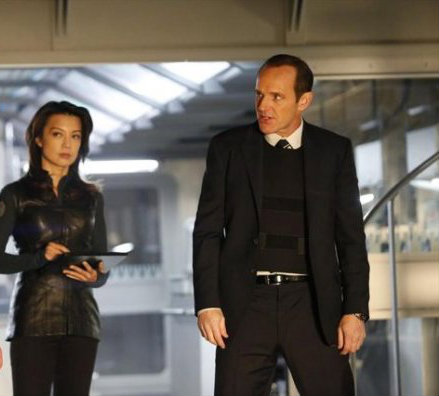 Phil Coulson & Melinda May wallpaper containing a business suit, a well dressed person, and a suit titled May and Coulson