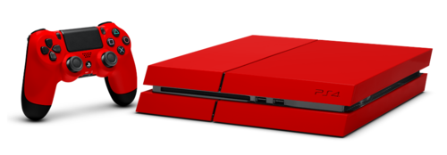 Playstation 4 wallpaper possibly containing a packing box entitled PlayStation 4 Red