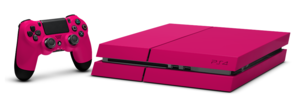 PlayStation 4 merah jambu