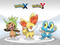 X and Y starters - pokemon photo