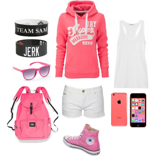 Polyvore wallpaper probably containing a sweat suit, an outerwear, and a leisure wear entitled Margaret's Outfit