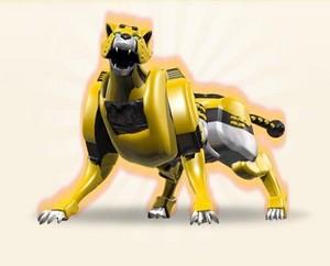 Yellow cheetah zord