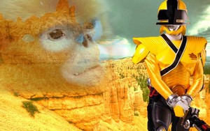 Yellow samurai mega ranger