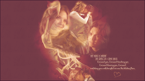 Pretty Little Liars TV Show wallpaper possibly with a fire and a sign entitled Hanna and Caleb