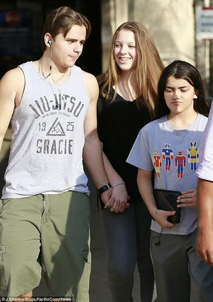 Prince, Blanket and Prince's new girlfriend out on Blanket's 12th birthday