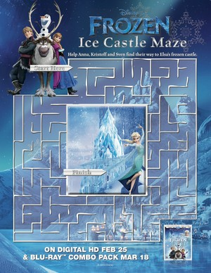 Frozen - Ice قلعہ Maze