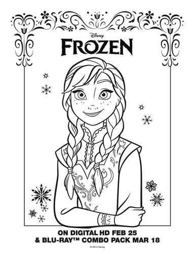 Princess Anna Wallpaper With Anime Called Frozen Coloring Sheet