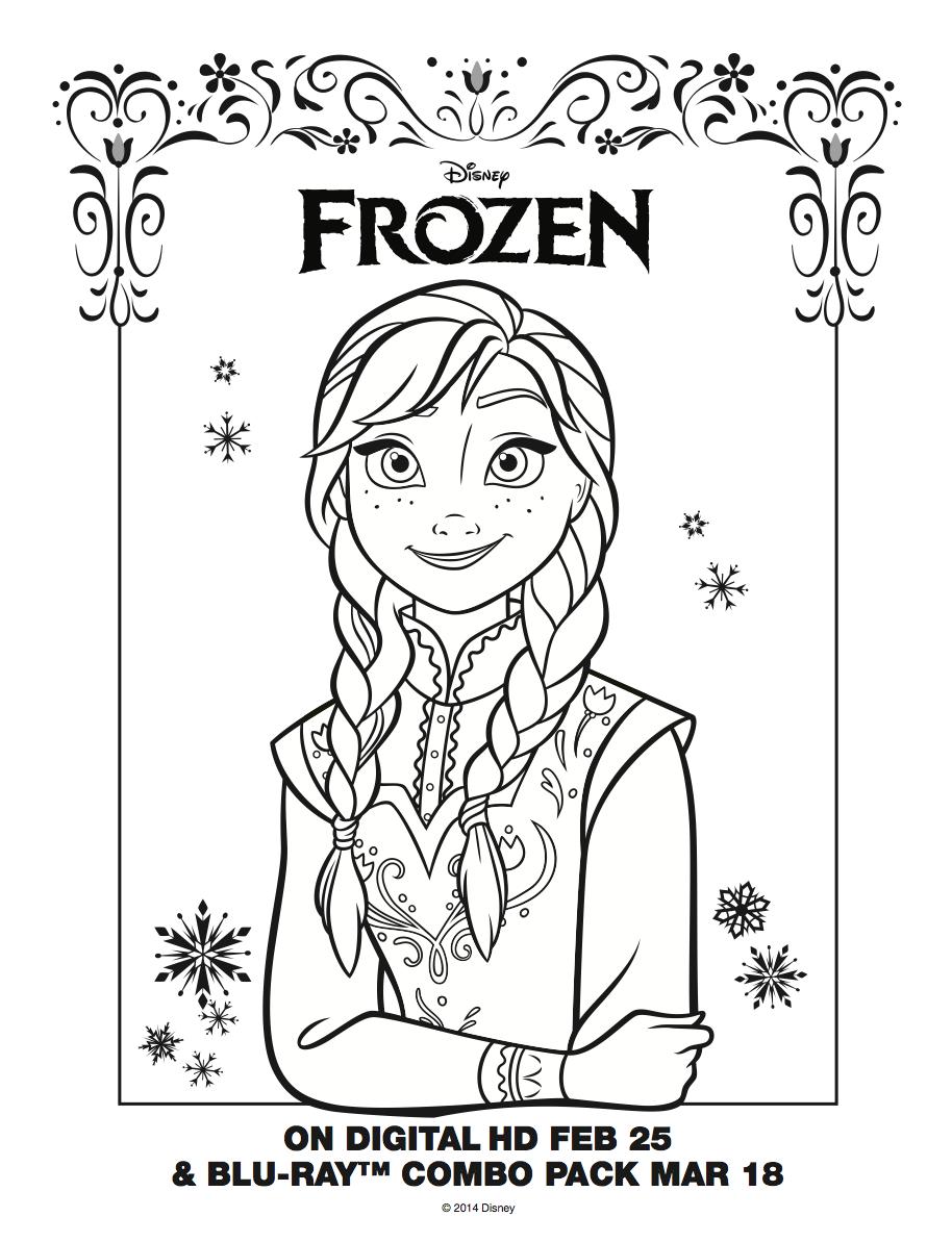 Frozen - Uma Aventura Congelante Anna coloring sheet