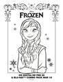 Frozen Anna coloring sheet