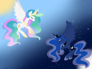 Princess Luna and Celestia