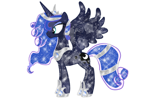 Princess Luna پیپر وال containing a triceratops titled Crystal Luna