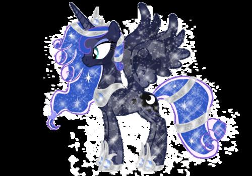 Princess Luna پیپر وال containing a triceratops entitled Crystal Luna
