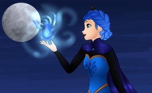 Elsa with Luna's Warna