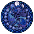 Princess Luna Stained Glass - princess-luna-of-mlp fan art