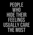Hide Feelings - quotes photo