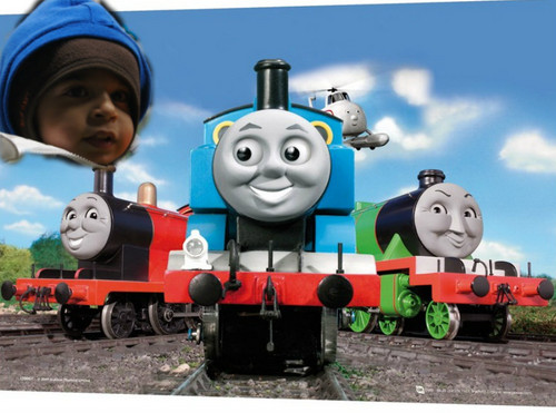 Thomas the Tank Engine kertas dinding entitled RIO 3rd B'day