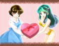 Akane and Lum _ Be my Valentine - ranma-1-2 fan art