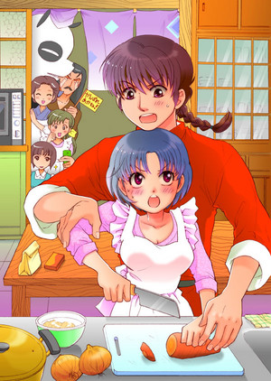 Ranma and AKane _ Cooking Lessons from Ranma